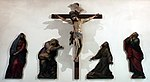 Cigoli (attr.), quattro dolenti e crocifisso del xvii secolo.JPG