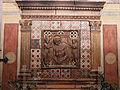 Cimitero dall'antella, cappella barocchi, affreschi di g. chini (1910) e rilievi in gres della manifattura chini 03.JPG