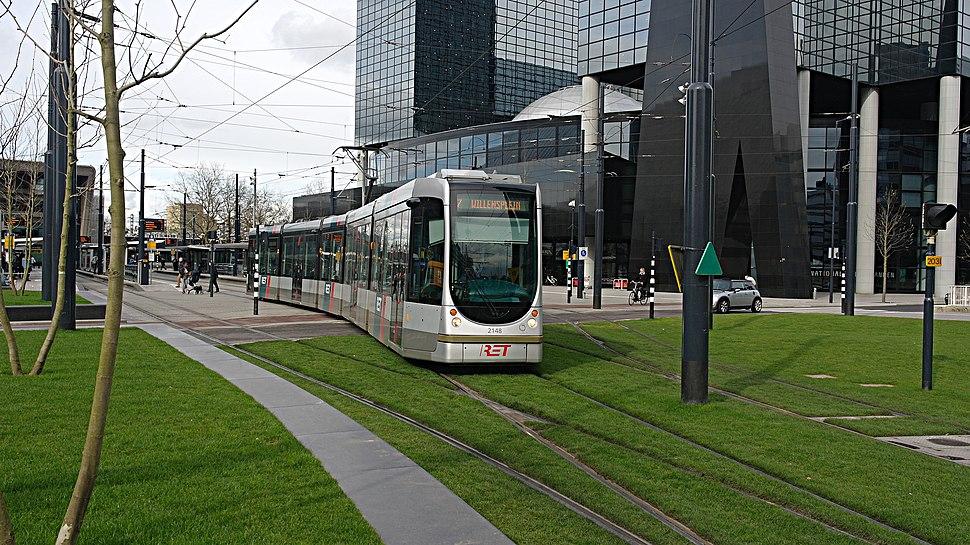 Citadis 2148, RET, Stationsplein, Rotterdam