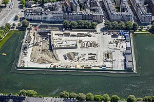 City Circle Line - Aerial of the City Circle Line being built, Øster Søgade