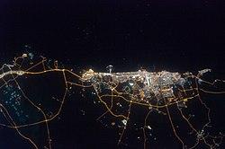 A Város éjszakai műholdas felvétele (2009)