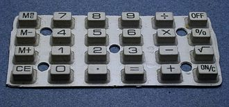 Chiclet keyboard - Rubber chiclet calculator keyboard