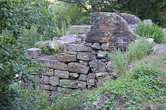 National Register of Historic Places listings in Alleghany County, Virginia - Image: Clifton Furnace from north