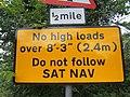 Close-up of traffic warning sign - geograph.org.uk - 546784.jpg