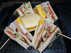 Club Sandwich with Potato Chips.JPG