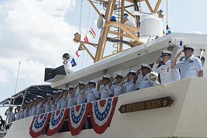 Richard Dixon (USCG) - USCGC Richard Dixon being commissioned on 20 June 2015.