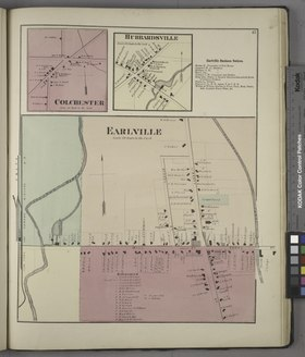 Colchester (Village); Hubbardsville (Village); Earlville Business Notices.; Earlville (Village) NYPL1584256.tiff