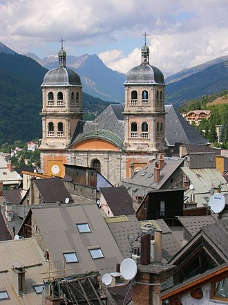 Briançon - A view of the Collegiate Church of Notre-Dame and Saint-Nicolas