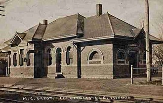 National Register of Historic Places listings in Lapeer County, Michigan - Image: Columbiaville Depot