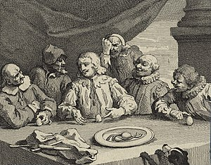 Columbus Breaking the Egg - Image: Columbus Breaking the Egg' (Christopher Columbus) by William Hogarth