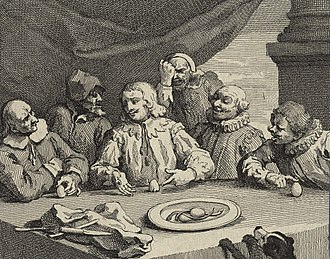 Egg of Columbus - Columbus Breaking the Egg by William Hogarth