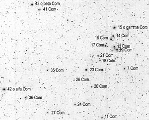Coma Berenices - Coma Berenices' major stars