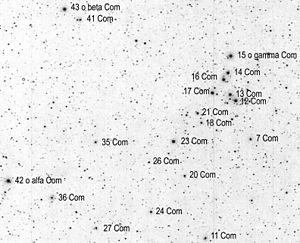 Coma Berenices - Coma Berenices' major stars