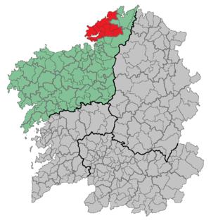 Ferrol (comarca) - Image: Comarca Ferrol