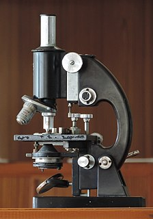 Microscope instrument used to see objects that are too small for the naked eye