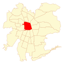 Location map of Santiago, Chile.