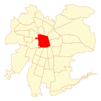 Location of Santiago commune in Greater Santiago
