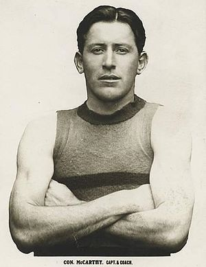 Western Bulldogs - Footscray captain Con McCarthy led the club to VFA premierships in 1923 and 1924, as well as the 1924 Championship of Victoria to gain entry into the VFL.