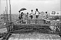 Concrete Roofing In Progress - Science City Site Office - Dhapa - Calcutta 1993-October 703.JPG