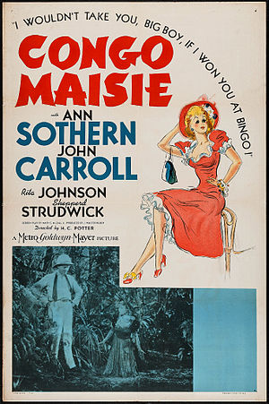 Congo Maisie - Theatrical Film Poster