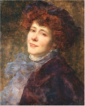 Consuelo Fould - Self-portrait (c.1890)