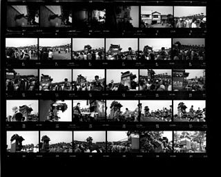 Contact print photographic image produced from film