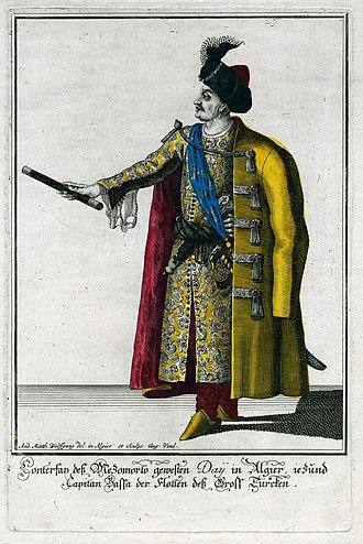 Mezzo Morto Hüseyin Pasha - Mezzo Morto Hüseyin Pasha as a Grand Admiral.