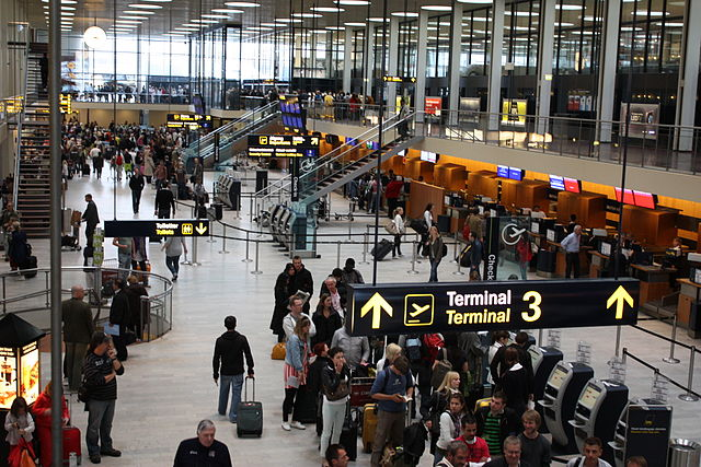 С завтрашнего дня время посадки на рейсы, отправляющиеся из датских аэропортов, вырастет
