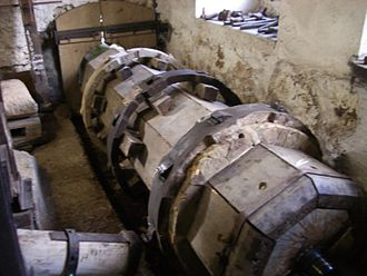 Corcelles, Bern - Restored hammer mill in Corcelles.  This mill was in operation for almost two centuries.