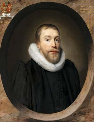 Dutch Church, Austin Friars - Portrait of Willem Thielen, minister of the Dutch Church, 1634 by Cornelis Janssens van Ceulen