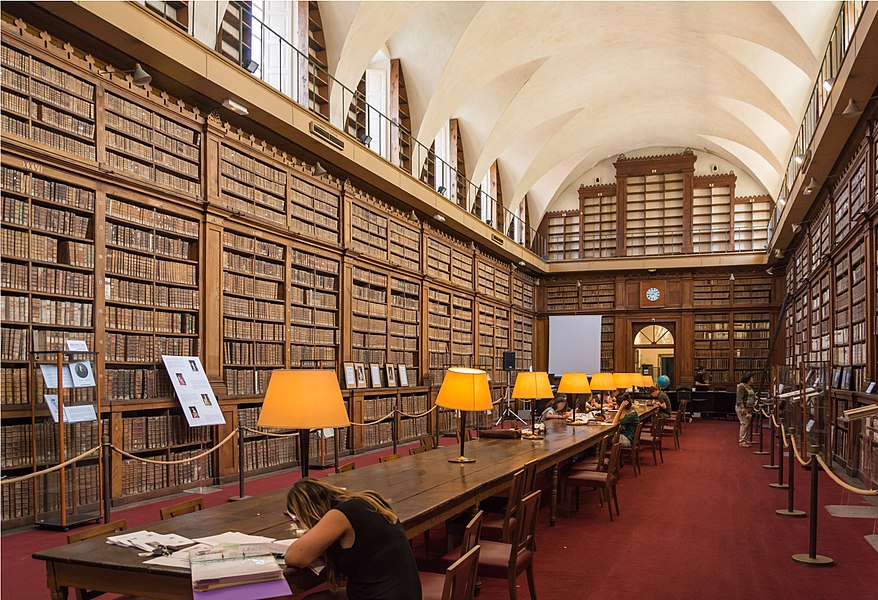 The Bibliothèque du palais Fesch was founded in 1801 and keeps more than 40000 works from the 15th to 19th century. It is located in the ground floor of the north wing of Palais Fesch, is protected as historical monument and still open for public use.