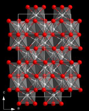 Struktur von Aluminiumoxid