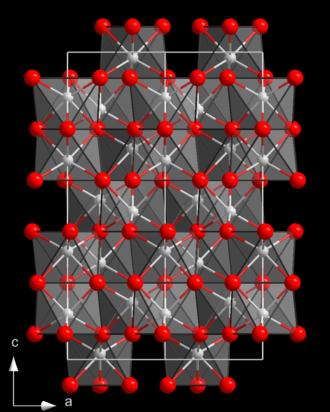 Chromium(III) oxide - Image: Corundum struct