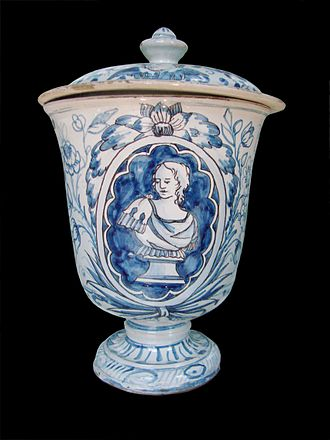 Faience - By the mid-18th century, glazed earthenware made in Liguria was imitating decors of its Dutch and French rivals