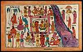 Court of Yama, God of Death. Coloured transfer lithograph. Wellcome V0044981.jpg
