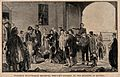 Crimean War; Florence Nightingale receiving wounded soldiers Wellcome V0015399.jpg