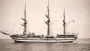 Soviet training ship Dunay - Image: Cristoforo Colombo Italian Royal Navy ship