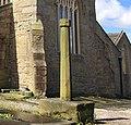 Cross in St Bartholomew's churchyard, Colne.jpg