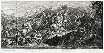 Crossing of the Granicus, Gérard Audran after Charles Le Brun, 1672.jpg