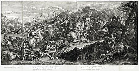 Passage du Granique ( 1672 ), Gérard Audran, d'après Charles le Brun