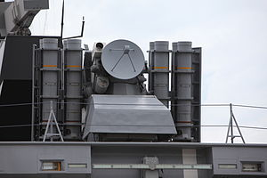 Crotale (missile) - Stealth casing of the ''La Fayette'' class frigate Surcouf.