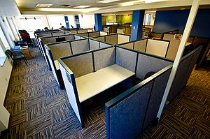 Cubicle - Cubicles in a former coworking space in Portland, Oregon