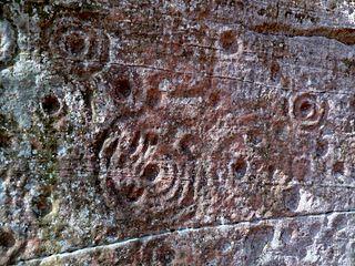 Rock carvings 280m NE of Ballochmyle Viaduct