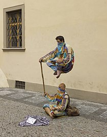 Czech-2013-Prague-Street performers (crop).jpg