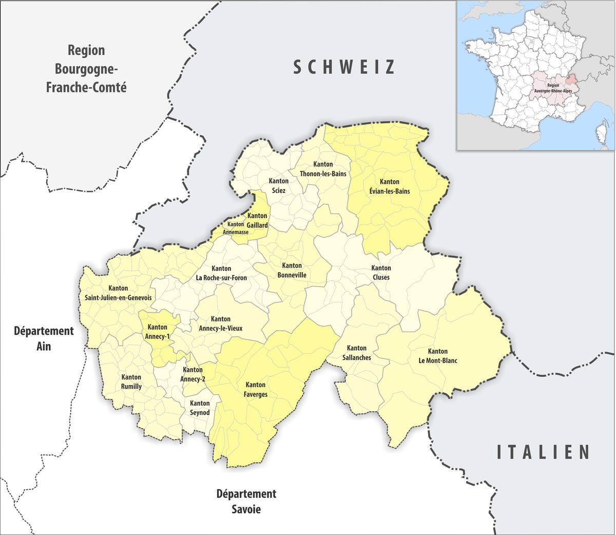 Liste der kantone im d partement haute savoie wikipedia - Chambre des notaires haute savoie ...
