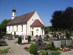D BW Ravensburg Mariatal Kirche und Friedhof