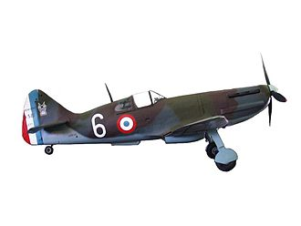 Free French Air Forces - French Dewoitine D.520.