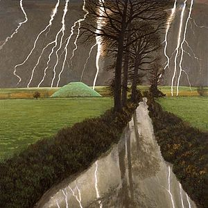 David Inshaw - Image: DAVID INSHAW Storm over Silbury Hill 2008