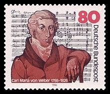 80-Pfennig-Sondermarke der Deutschen Bundespost (1986) zum 200. Geburtstag (Quelle: Wikimedia)