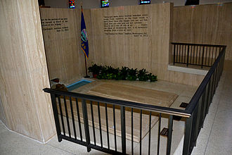 "Graves of Dwight D. Eisenhower, Doud Dwight ""Icky"" Eisenhower and Mamie Eisenhower in Abilene, Kansas DDEisenhowerGrave3.jpg"